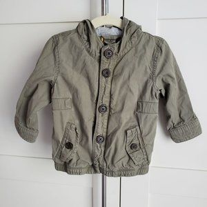 Baby Gap Green Khaki Jacket 12-18mo Boys Coat EUC